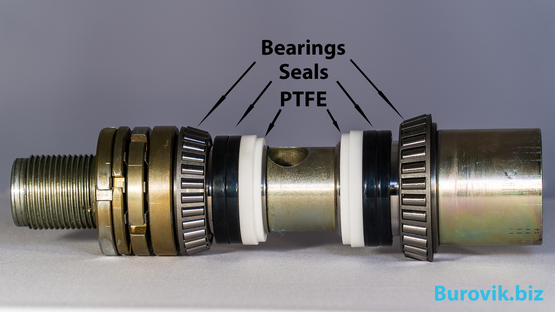 Swivel seals and shaft